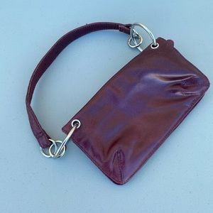 Wilson Leather - burgundy wristlet